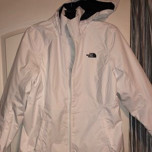 North face white Authentic jacket